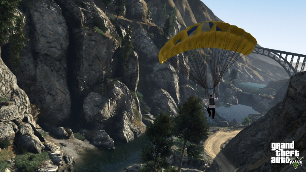 Parachuting in GTA 5