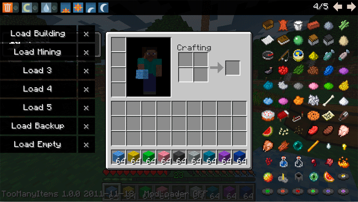 Minecraft Too Many Items Mod
