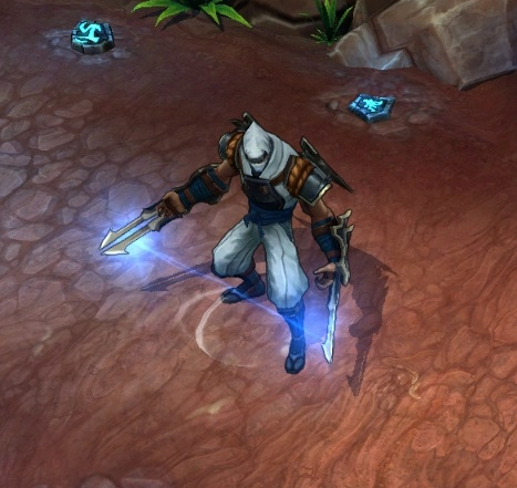 With lightning strikes crackling through his shadows, shockblade zed trades his dark robes for a lighter