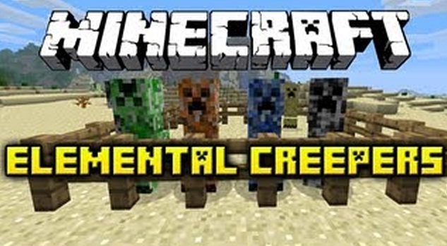 Elemental Creepers for Minecraft