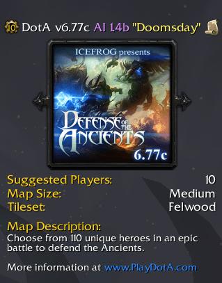 DotA 6.77c AI Map