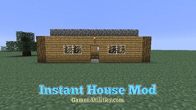 Instant House Mod 1.9.1/1.9.2/1.8.9 - Minecraft