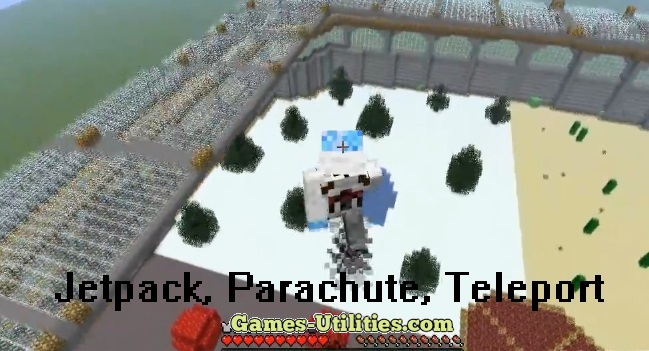 Jetpack,Parachute,Teleporter for Minecraft 1.9.1/1.9.2/1.8.9