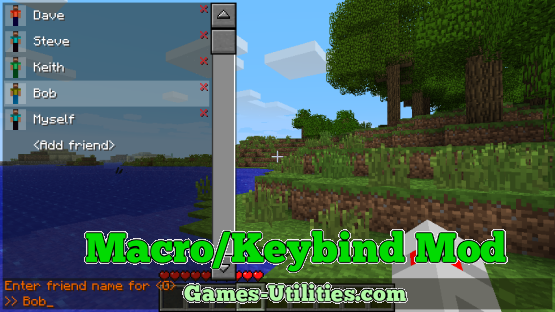 Keybind Mod for Minecraft 1.9.1/1.9.2/1.8.9