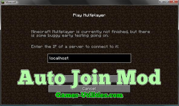 Auto Join Mod for Minecraft 1.9.1/1.9.2/1.8.9