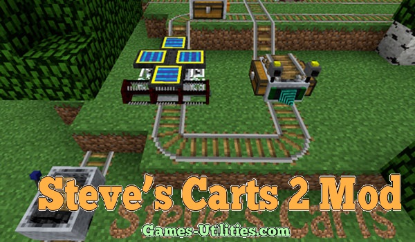 Steve's Carts 2 Mod for Minecraft 1.9.1/1.9.2/1.8.9