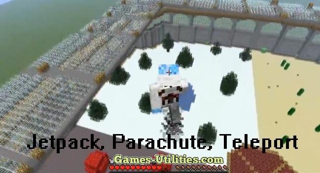 Jetpack,Parachute,Teleporter